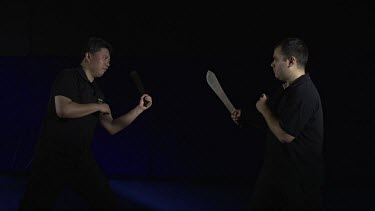 2 dangerous fighting with Machetes_MS_Slo Mo