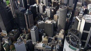 Aerial - Sydney - Sydney City - View of Harbour Bridge