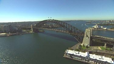 Sydney Harbour Bridge and Opera House. Botanical Gardens.