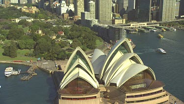 Opera House, Sydney. Sydney Harbour. Medium Shot.