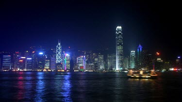 A timelapse of the glowing lights of Hong Kong as they light up the harbour i  colourful display of technology.