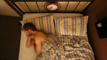 A genuine depiction of the typical amount of movement that occurs during sleep is evident in this restless clip.