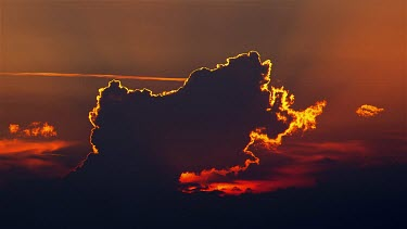 Sun Made Silhouetted Cloud Formation, Lido, Venezia, Italy