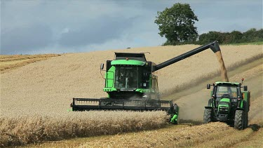 Combined Harvester & Tractor, North Yorkshire, England
