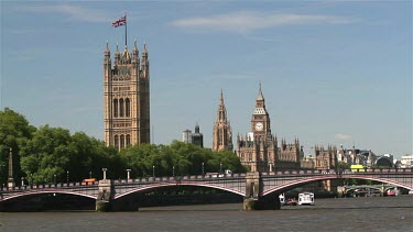 Lambeth Bridge, Houses Of Parliament, The Palace Of Westminster, London, England