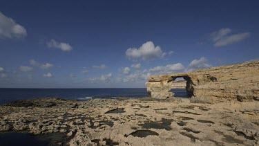 Fungus Rock Black Lagoon, Dwejra, Gozo, Malta