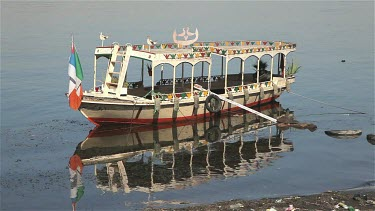 Boat & Reflection, River Nile, Luxor, Egypt