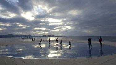 Sun Salutation On Zadar Quay, Istarska Obla, Zadar, Croatia