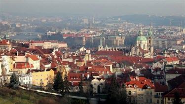 St. Nicholas Church & Vltava River, Prague & Czech Republic